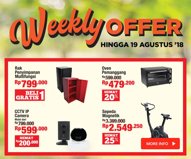 Weekly Offer 13-19 Agustus