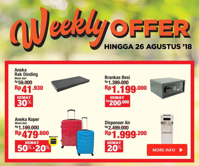 Weekly Offer 20-26 Agustus
