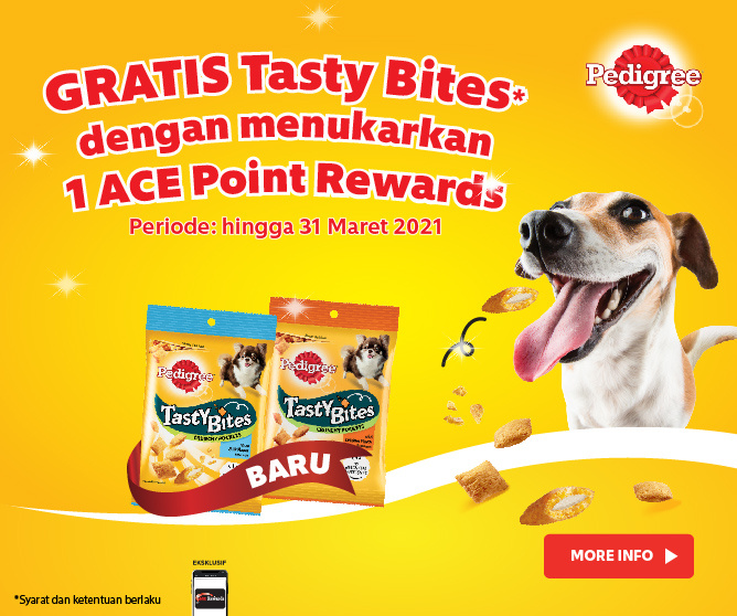 Tukar 1 Point Rewards dengan Tasty Bites Gratis