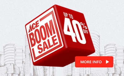 ACE Boom Sale: Up to 40% Off